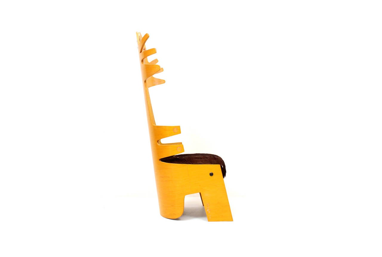Post-Modern Terence Main Chair Sculpture For Sale