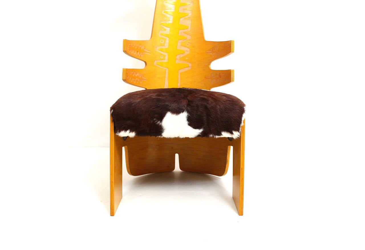 Late 20th Century Terence Main Chair Sculpture For Sale