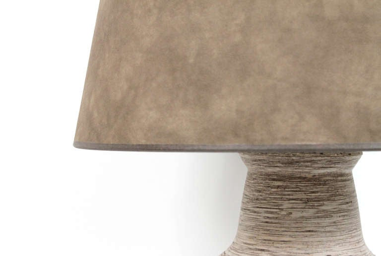 Large-Scale Ceramic Table Lamp by Design Technics For Sale 1
