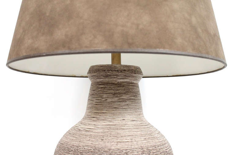 American Large-Scale Ceramic Table Lamp by Design Technics For Sale