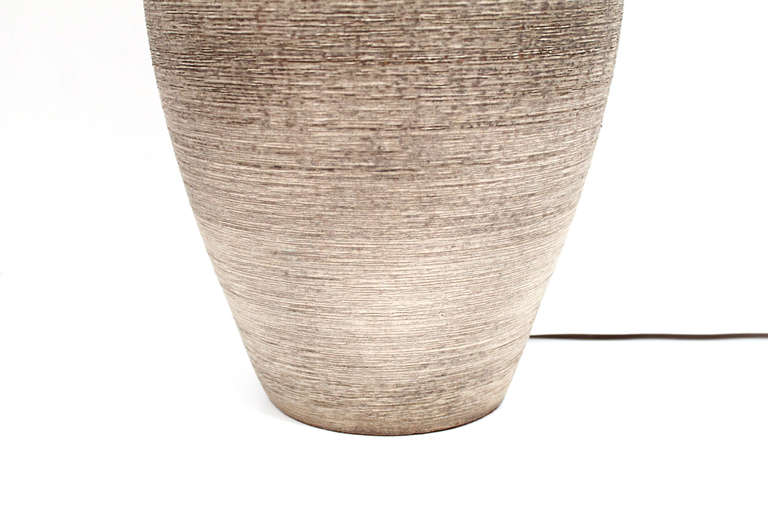 Mid-20th Century Large-Scale Ceramic Table Lamp by Design Technics For Sale
