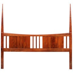 Studio Made King-Size Black Walnut Headboard