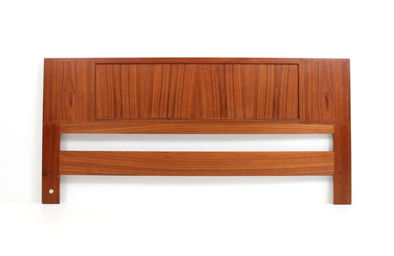 Reversible Danish Teak And Cane Kingsize Headboard By Falster At 1stdibs