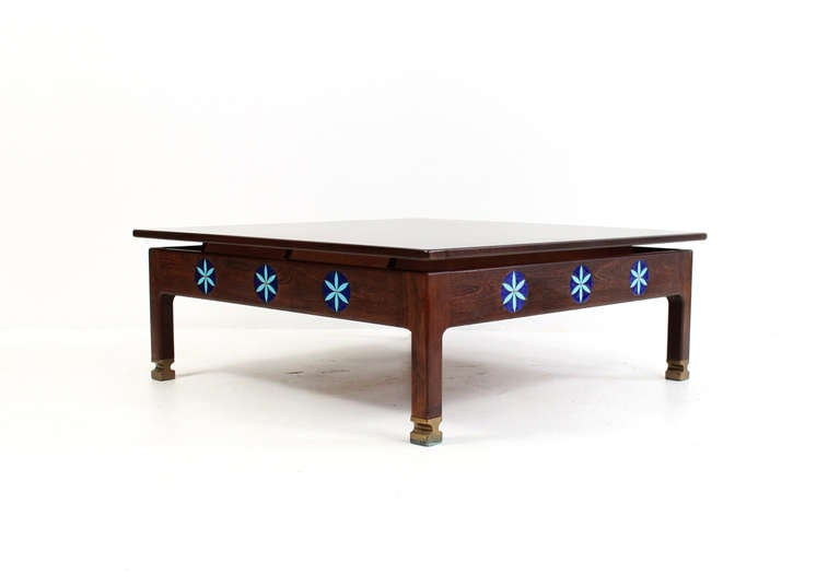 Ib Kofod Larsen Wenge Coffee Table For The Megiddo Collection At 1stdibs