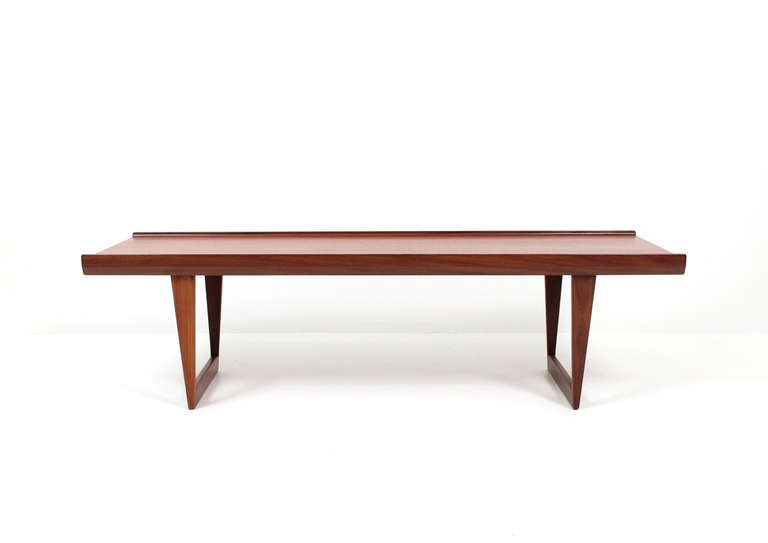 teak danish coffee table or benchlovig at 1stdibs
