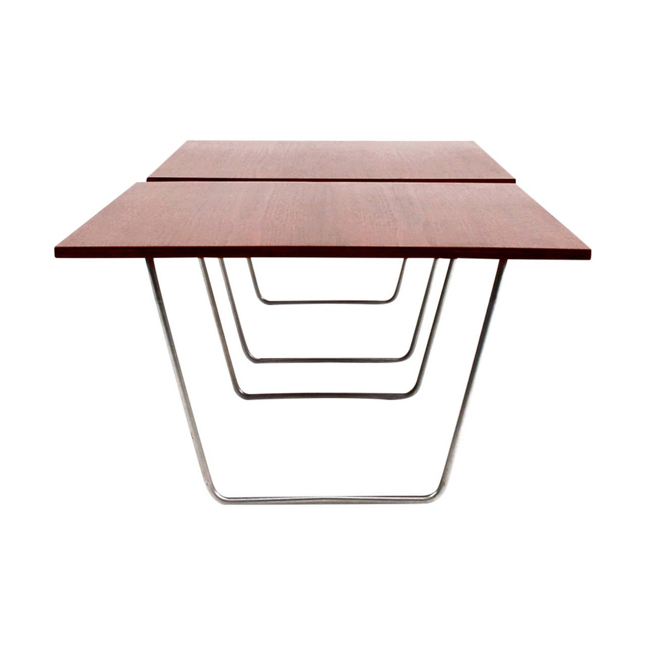 pair of teak bachelor tables by verner panton at 1stdibs. Black Bedroom Furniture Sets. Home Design Ideas