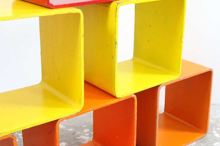 Brightly Colored Storage Cubes At 1stdibs