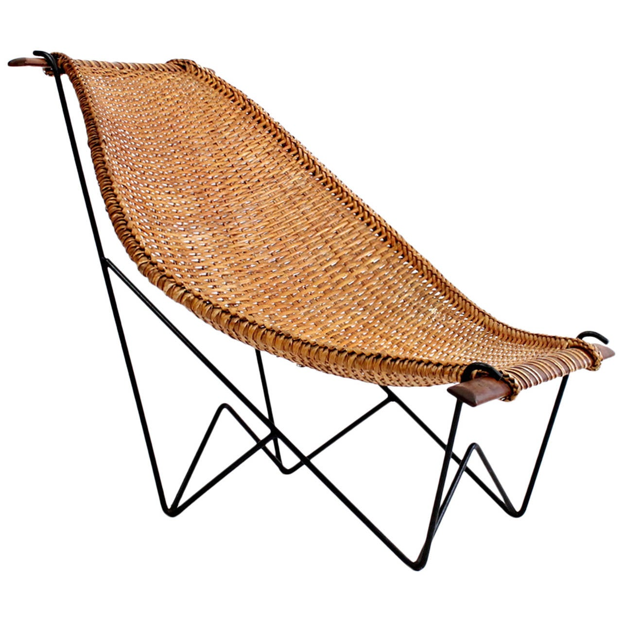 "John Risley Rattan ""Duyan"" Lounge Chair at 1stdibs"