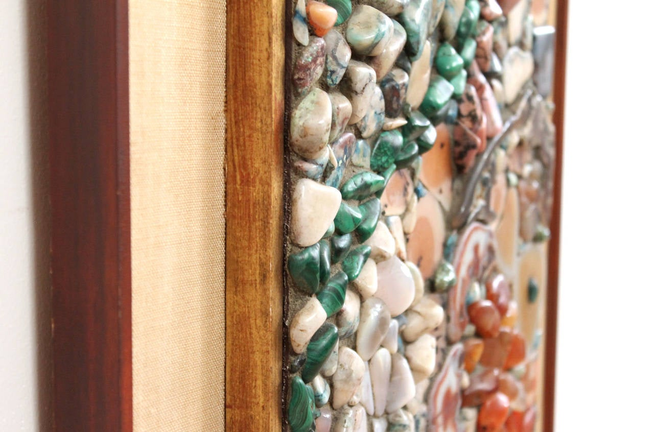 Miriam Rogers Stone Mosaic Wall Hanging For Sale 2