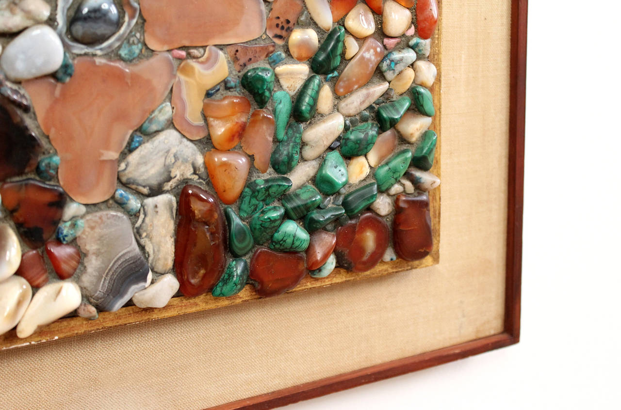 Miriam Rogers Stone Mosaic Wall Hanging In Excellent Condition For Sale In Belmont, MA