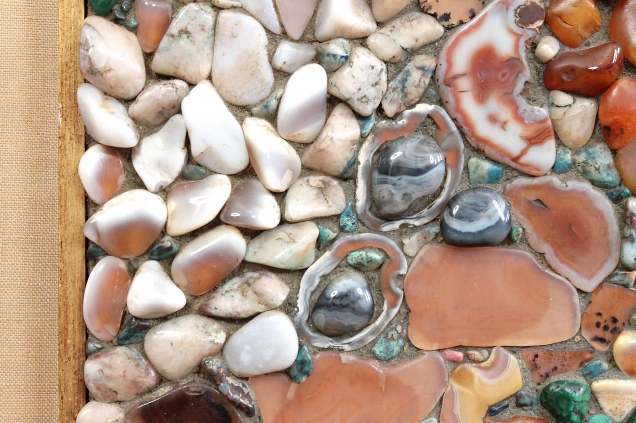 Malachite Miriam Rogers Stone Mosaic Wall Hanging For Sale