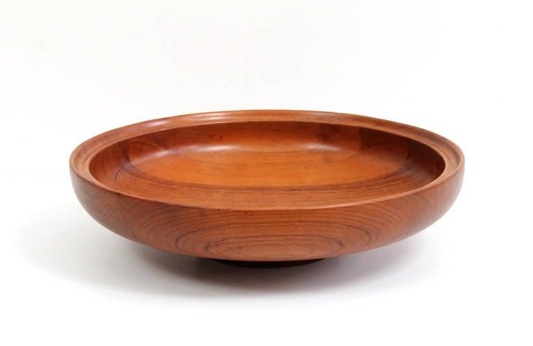 henning koppel for georg jensen teak centerpiece bowl at 1stdibs. Black Bedroom Furniture Sets. Home Design Ideas