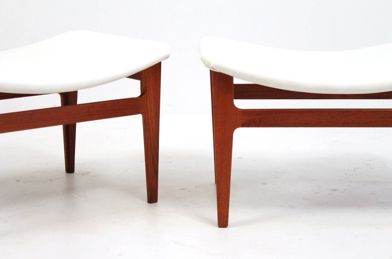 Pair Of Teak Ottomans By Finn Juhl At 1stdibs