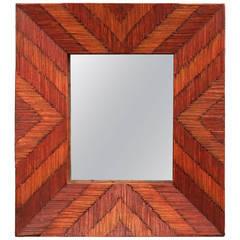 Folk Art Matchstick Mirror