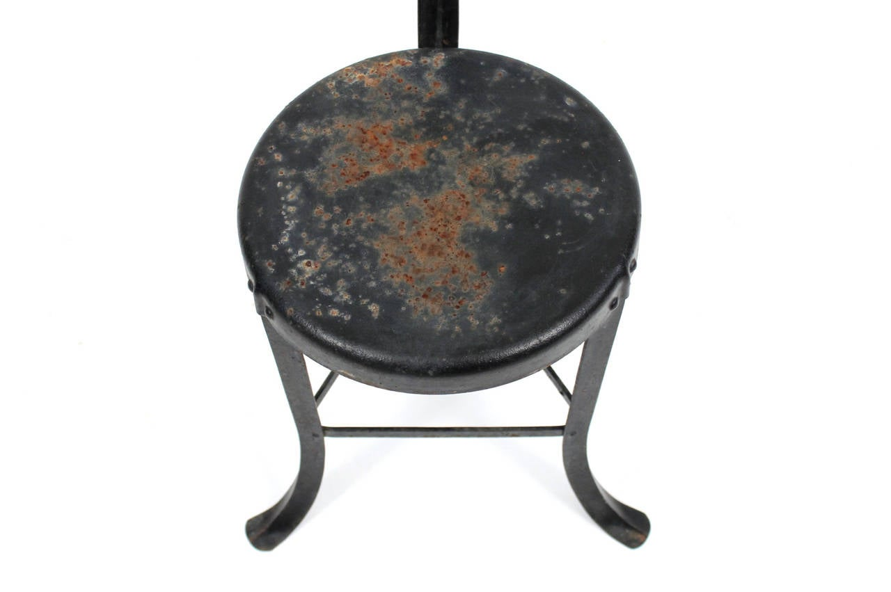 Industrial Steel Stool At 1stdibs