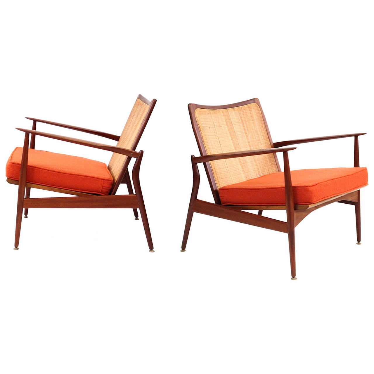 This sculptural pair of lounge chairs by ib kofod larsen is no longer - Ib Kofod Larsen Spear Arm Chairs 1
