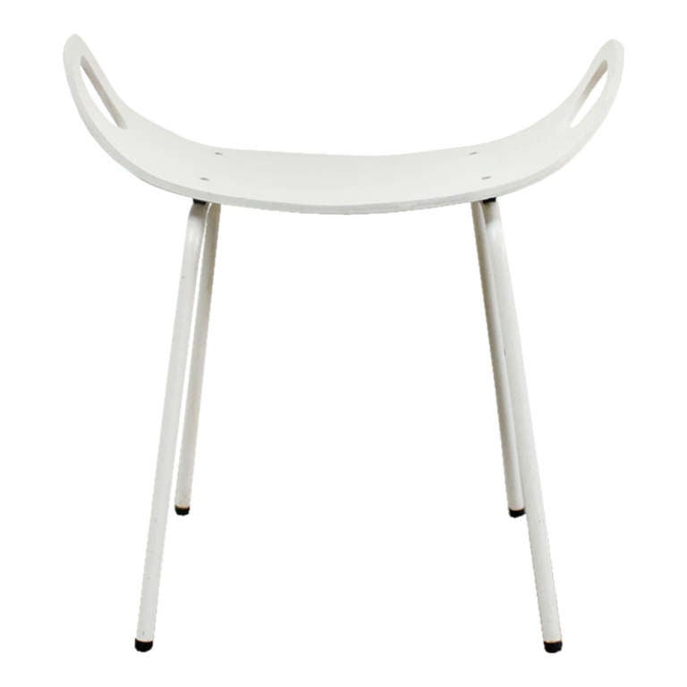 Scandinavian Bent Plywood Stool At 1stdibs