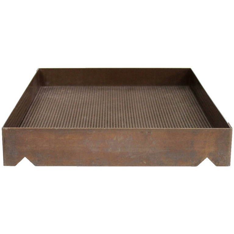 Design Ideas Mesh Letter Tray: Architectural Bronze Mesh Letter Tray At 1stdibs
