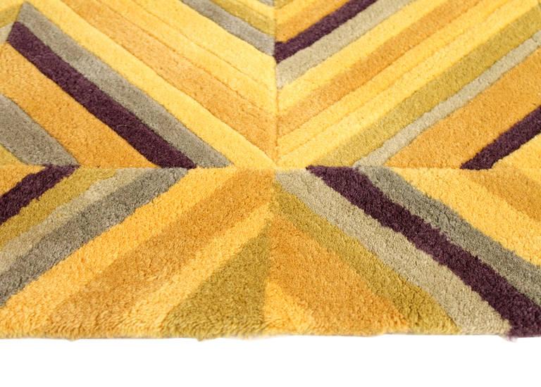 Wool Large V'Soske Modernist Optical Rug For Sale