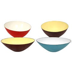 Rare Italian Raymor Enamel Bowl Collection