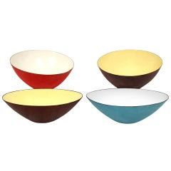 Rare Italian Raymor Enamel Bowl Collection