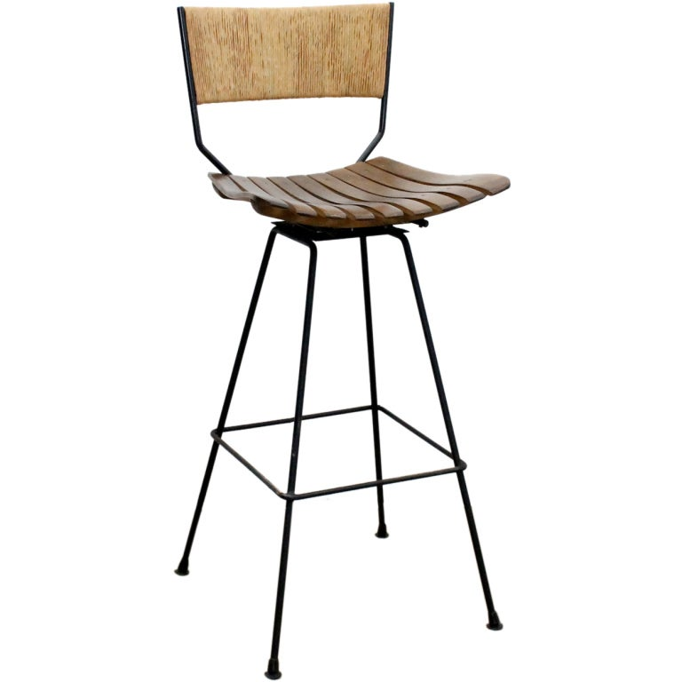 Mid Century Barstools By Arthur Umanoff Two Available At