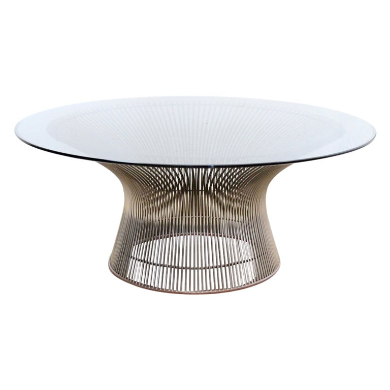 Coffee table by warren platner at 1stdibs for Table warren platner
