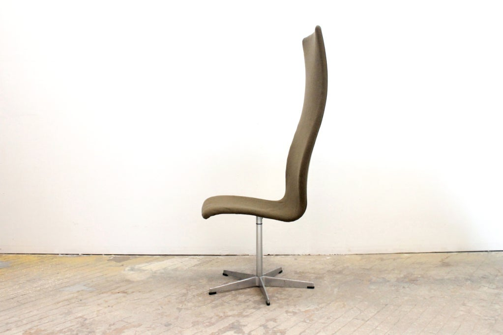 Danish High Back Oxford Chair by Arne Jacobsen For Sale