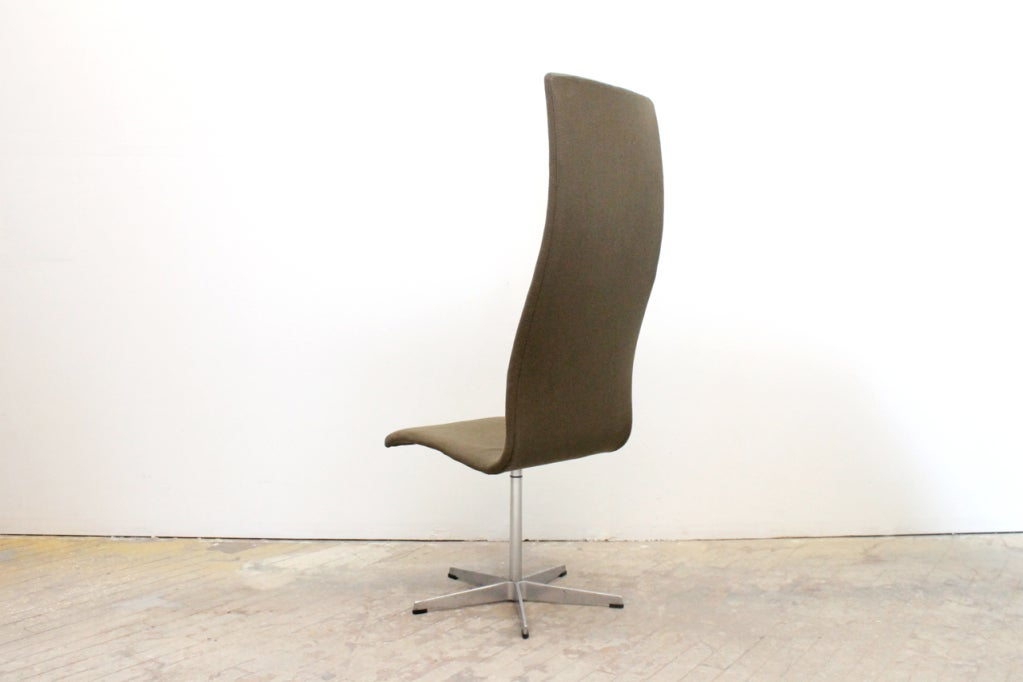 Mid-20th Century High Back Oxford Chair by Arne Jacobsen For Sale