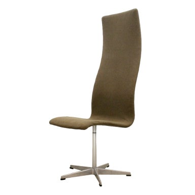 High Back Oxford Chair by Arne Jacobsen