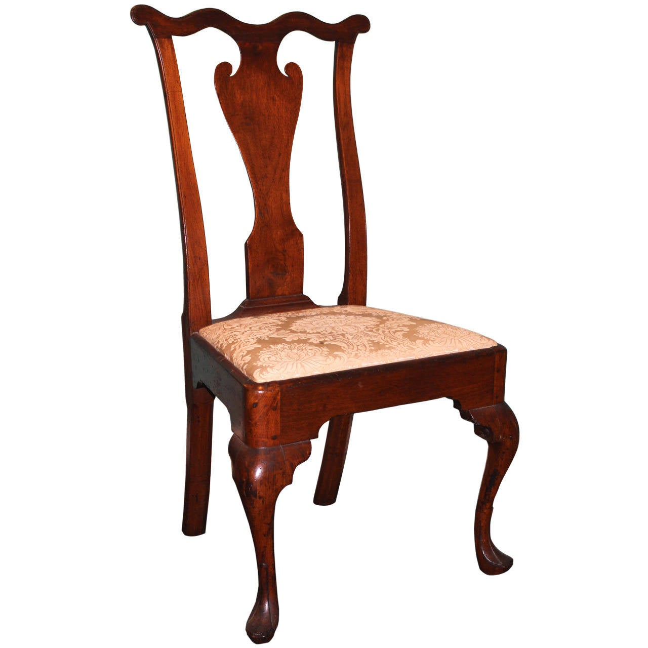 Philadelphia queen anne walnut side chair c 1755 for Queen anne furniture