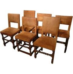 Set of Six Cromwellian Style Chairs