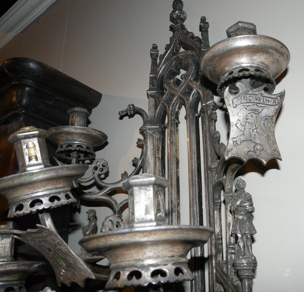 Gothic 5 arm sconce at 1stdibs for Home interior 5 arm sconce