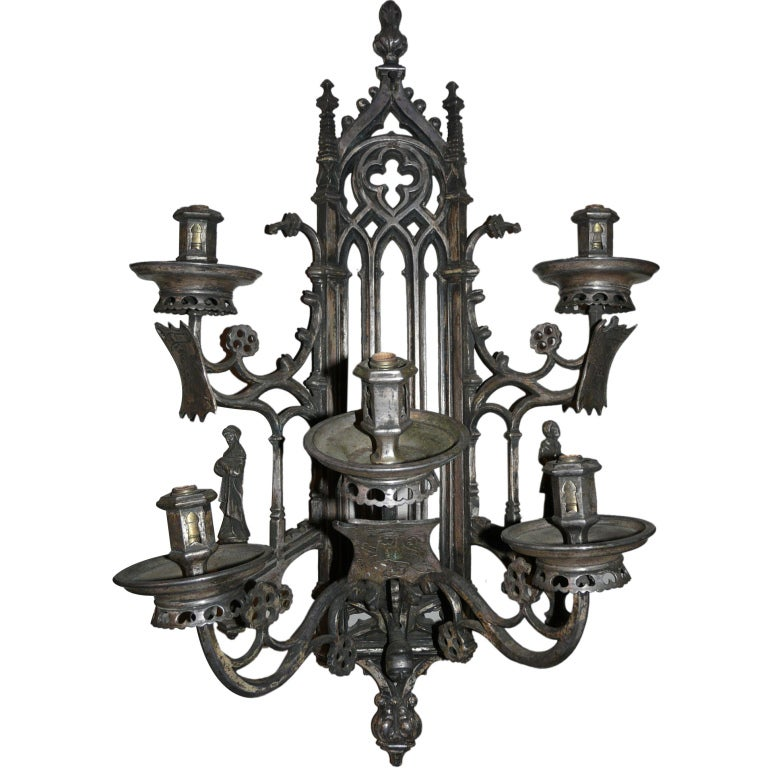 Gothic Wall Sconces: Gothic 5-Arm Sconce For Sale At 1stdibs