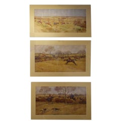 """E. Blocaille """"Pytchley Hunt"""" English Hunting Watercolors"""