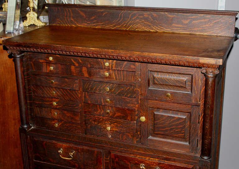 Early 20th C American Cabinet Company Oak Dental Cabinet
