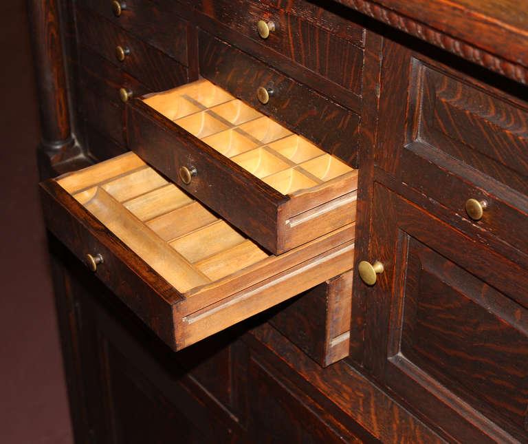American Furniture Oak Creek Wi: Early 20th C American Cabinet Company Oak Dental Cabinet