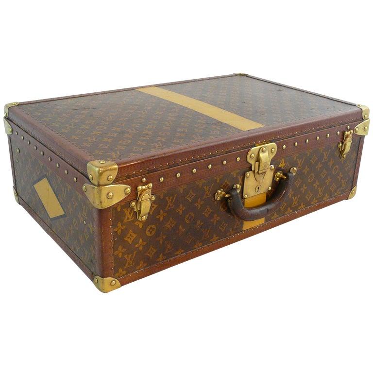 Louis Vuitton Vintage Hardside Luggage Suitcase At 1stdibs