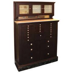 American Cabinet Company Mahogany Dental Cabinet, circa 1920s