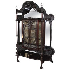 Spectacular Chinese Chippendale Display Cabinet by D.Hibbert, England