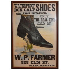 W.P. Farmer Manchester, NH Shoe Store Advertising Poster