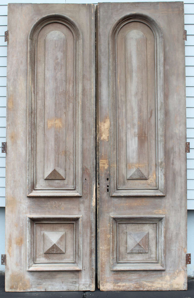 Pair Of Monumental 19th Century Paneled Doors At 1stdibs