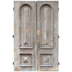 Pair of Monumental 19th Century Paneled Doors