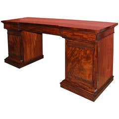 Classical Mahogany Pedestal Sideboard Attributed to Vose, Boston