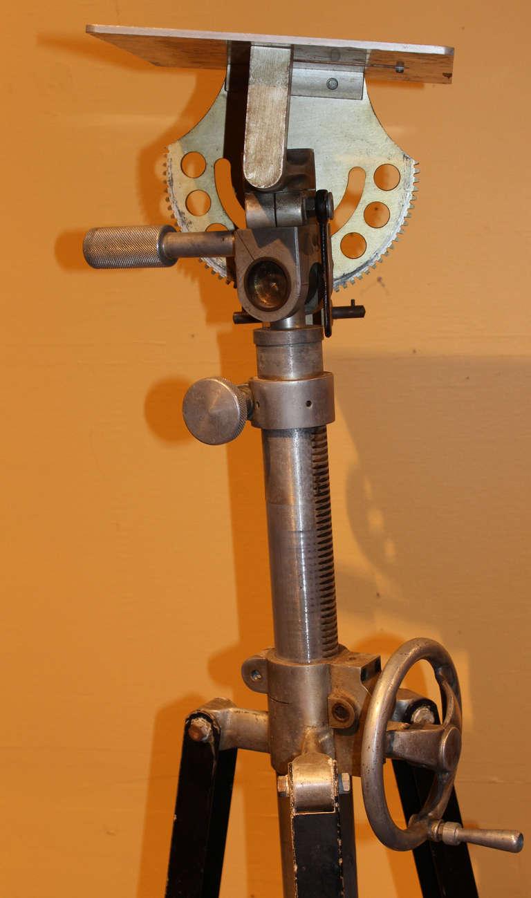 Mid Century Fastax High Speed Camera Tripod At 1stdibs