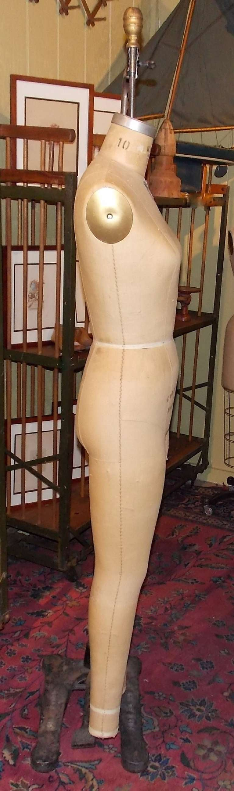 Wolf Hanging Full-Body Dress Form on Iron Stand 5