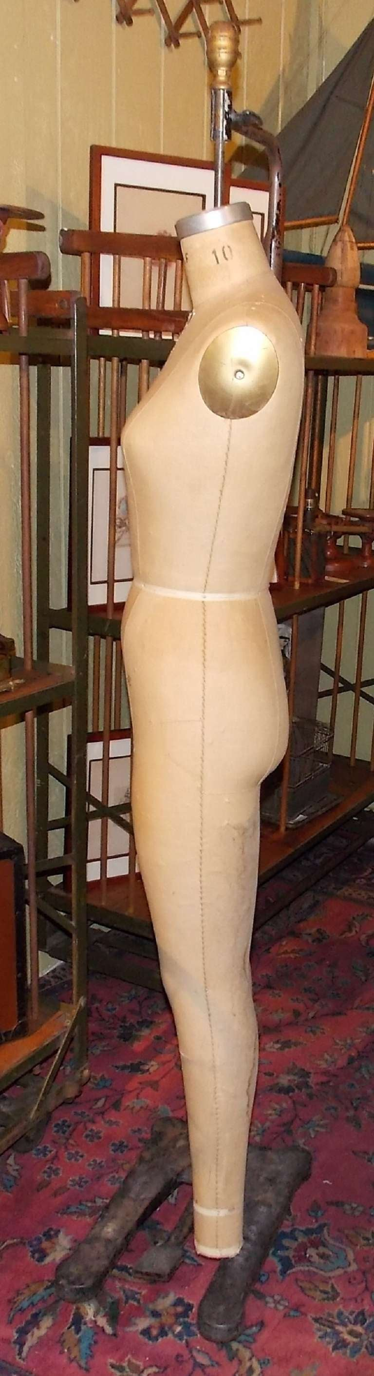 Wolf Hanging Full-Body Dress Form on Iron Stand 7