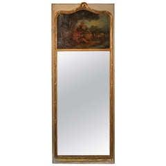 19th Century French Gilt Trumeau Mirror