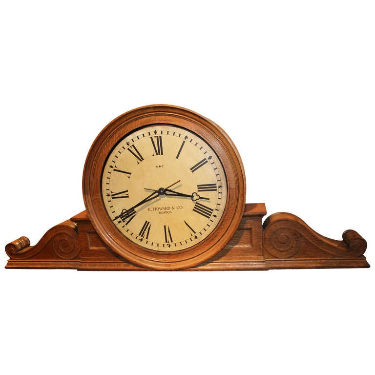 E Howard Boston Monumental Gallery Or Wall Clock From