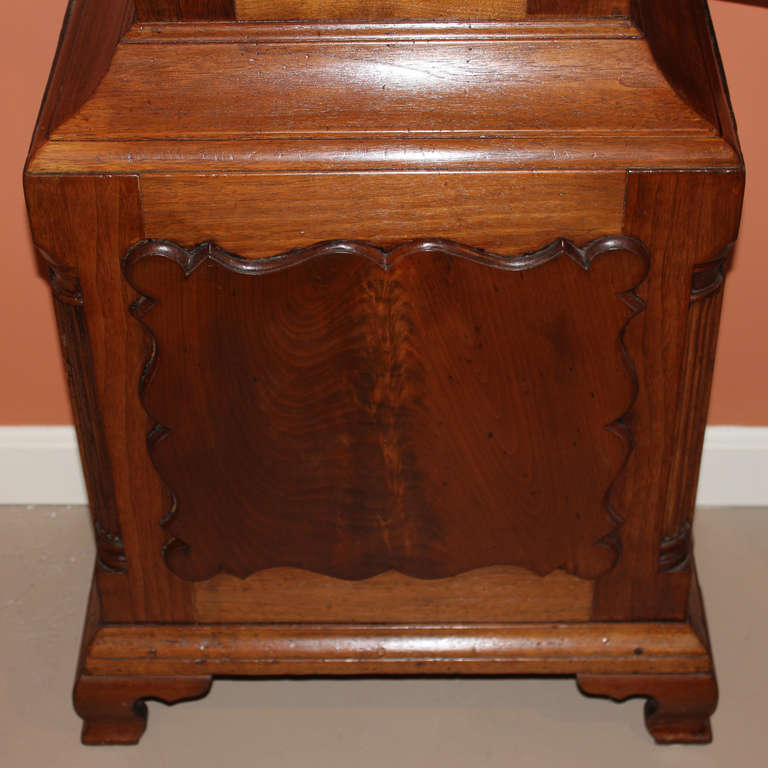 Daniel rose walnut case tall clock from reading for Furniture reading pa